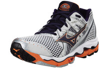 Mizuno Nirvana 9 Chaussures course  pied Homme Wave orange/blanc